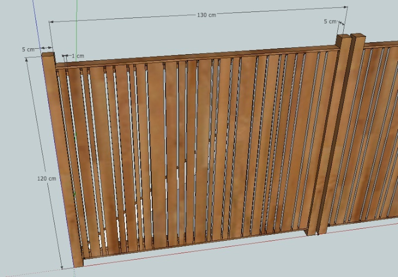 Projet portail battant en bois for Decapant peinture bois fait maison