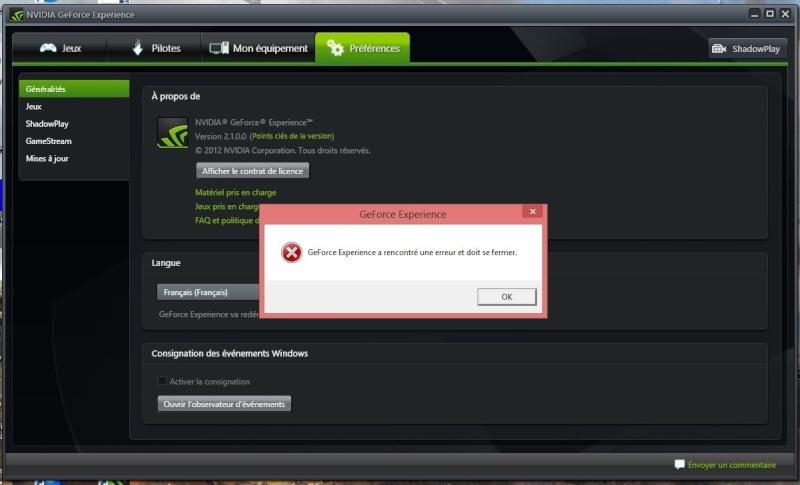 winxp.exe a rencontre un probleme et doit fermer