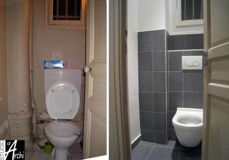Peinture des toilettes - Wc suspendu sortie verticale ...