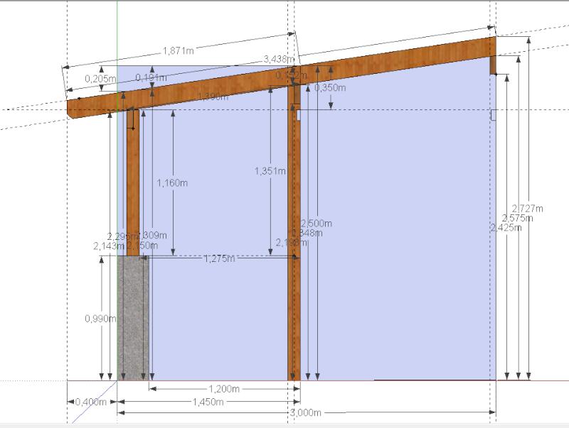 Pergola bois translucide for Logiciel pour dessiner une terrasse