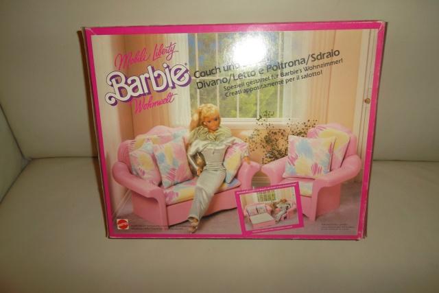 Mobili liberty barbie divano letto e poltrona sdraio mattel 4771 mint - Camera da letto di barbie ...