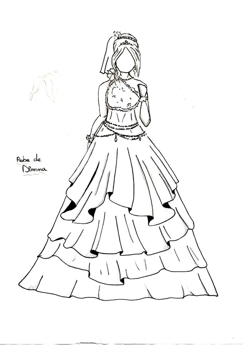 Mes rares dessins page 2 - Dessin de robe de princesse ...