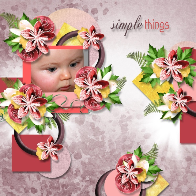 summertime kit simplette page lilidesigns