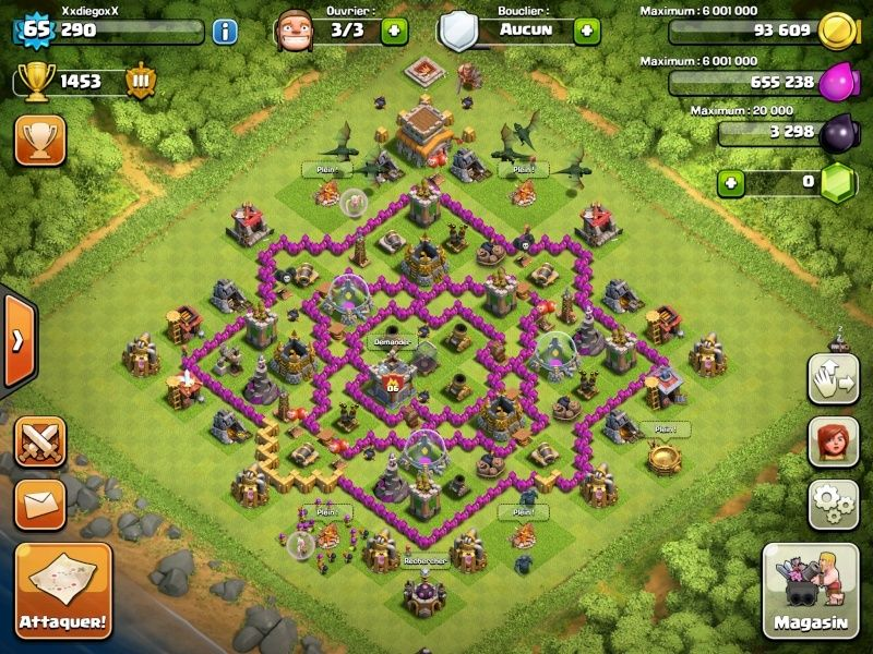maps clash of clan hdv 8