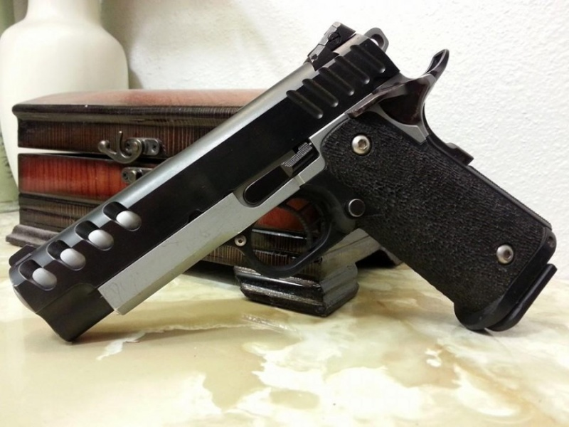 201145 acp double barrel sti 2011 custom 45 acp