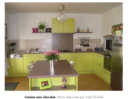 Immense cuisine re d corer et peindre page 2 for Meuble cuisine vert pomme