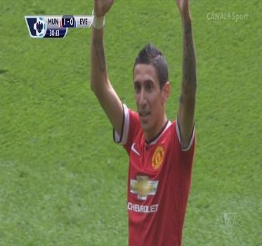 أهداف مباراة مانشستر يونايتد 2 × 1 ايفرتون