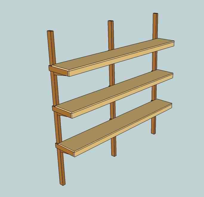 Des tag res robustes - Fabrication etagere garage ...