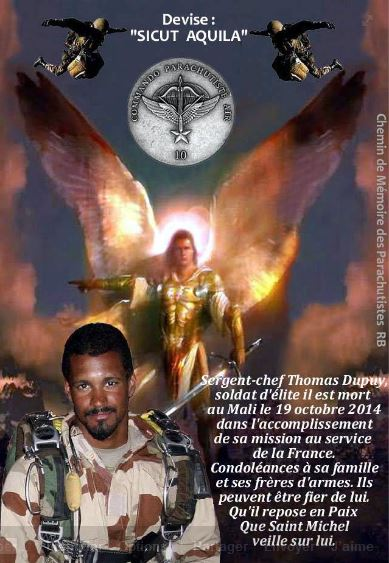 Le sergent-chef Thomas Dupuy, 32 ans, est mort dans la nuit du 29 octobre 2014 au Mali