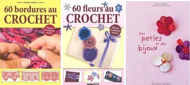 Des perles et des bijoux, Bordures et fleurs au crochet