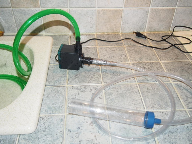 pompe newjet 1200 pour vider puis remplir les aquarium