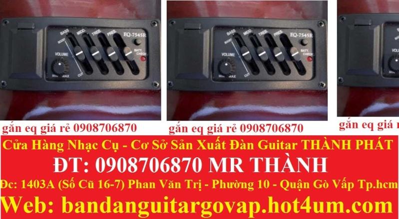 Nhận gắn EQ, Pickup, Equalizer và sửa chữa đàn guitar thùng giá rẻ gò vấp hcm - 1