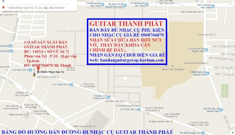 Nhận gắn EQ, Pickup, Equalizer và sửa chữa đàn guitar thùng giá rẻ gò vấp hcm - 6