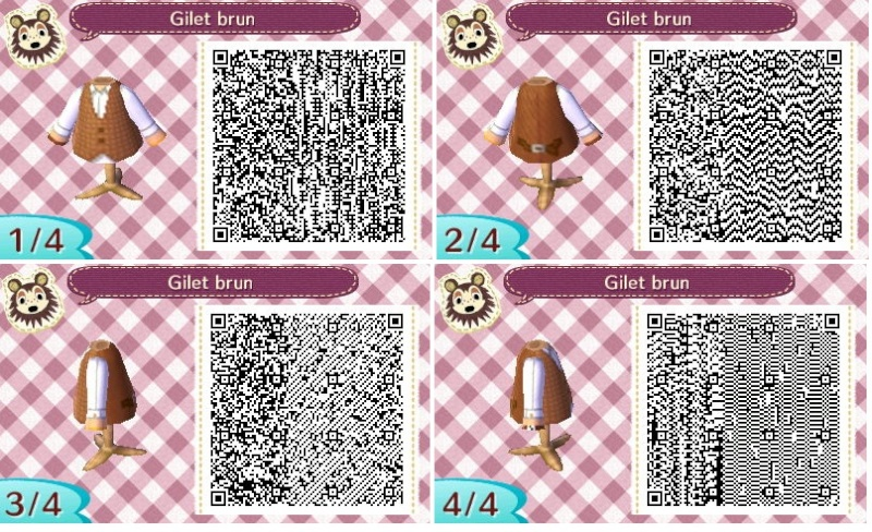Connu Animal Crossing New Leaf Qr Code Vetement Garcon RR36 | Jornalagora TI21