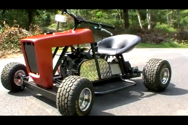 Lawn mower go kart build for Chambre a air tracteur tondeuse