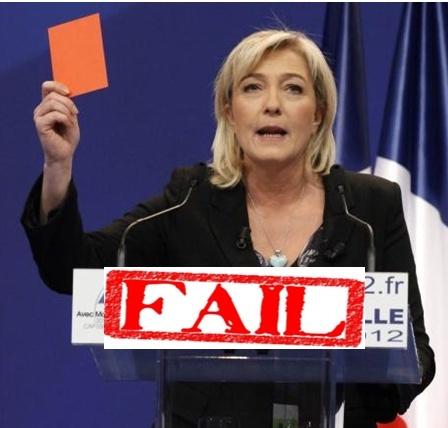 Marine Le Pen, lors de la convention de Lille en 2012.