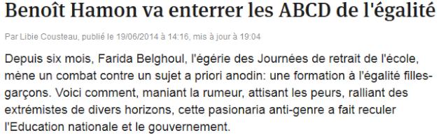 Baccalauréat FAIL : Benoit Hamon va enterrer les ABCD de l'égalité.