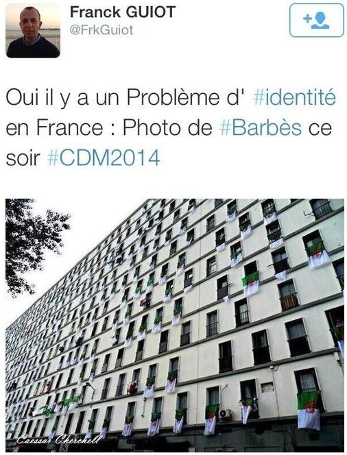 « Cesar Cherchell », place bien connue du Quartier Barbès selon les intellos de l'UMP