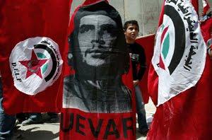 Manifestation du Front Démocratique de Libération de la Palestine (FDLP) à Naplouse.