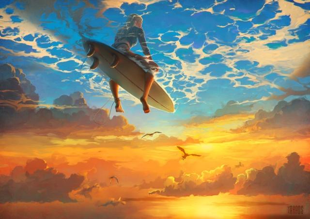 ciel mer et surf