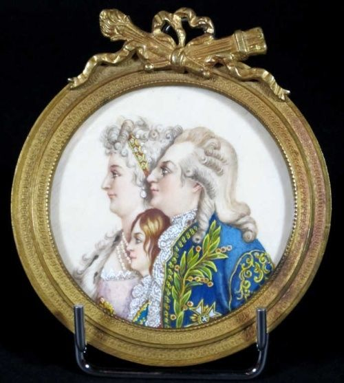 Miniatures xixe repr sentant la famille royale - Symbole representant la famille ...