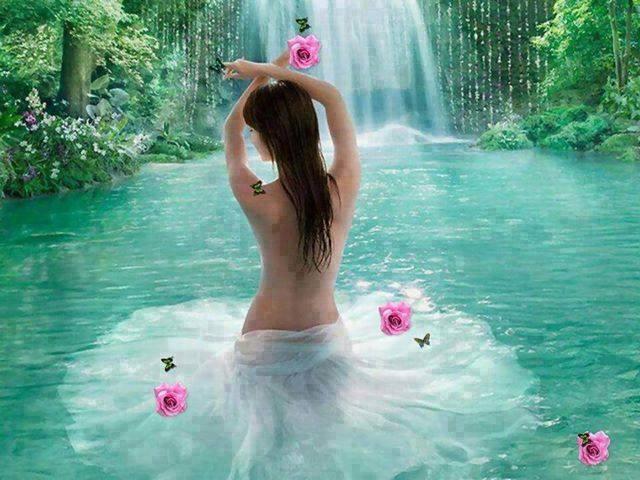 belle image femme cascade