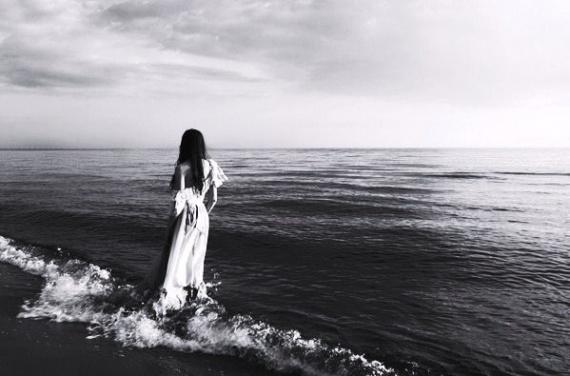 noir et blanc mer