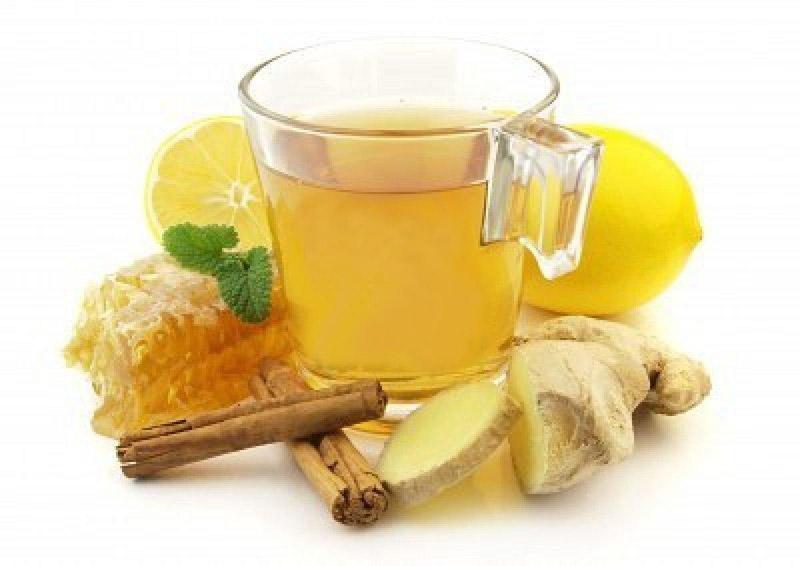 Имбирный лимонный чай
