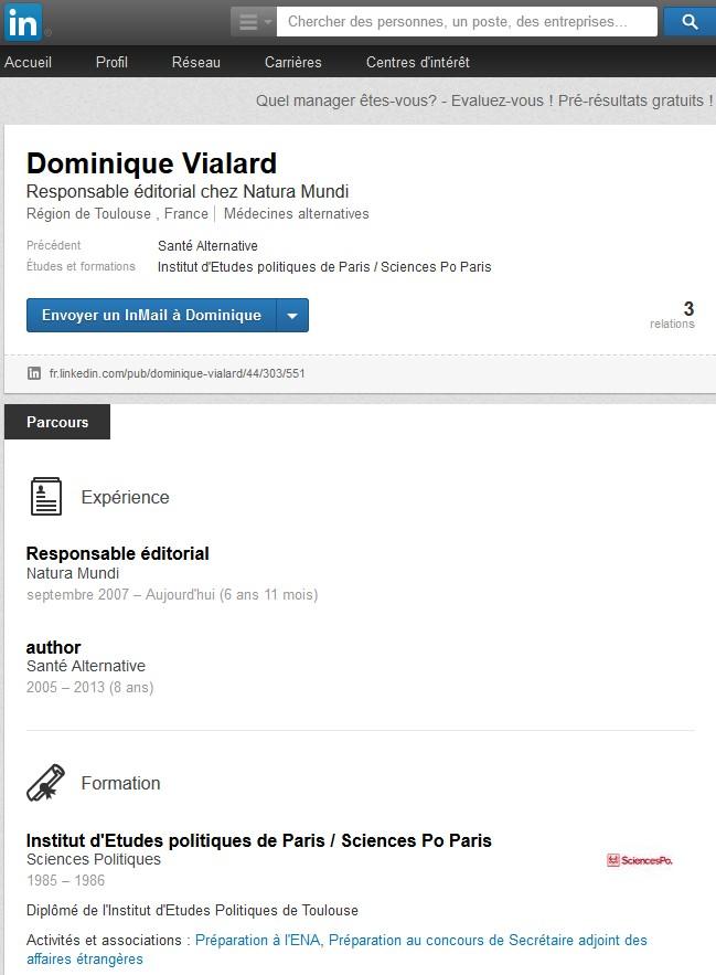 Profil de Dominique Vialard, journaliste, 30 juillet 2014