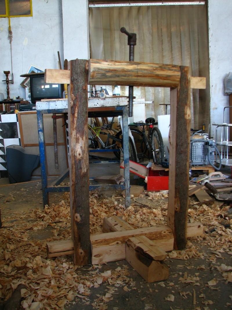 Presse huile d 39 olive faite maison for Fabrication presse hydraulique maison