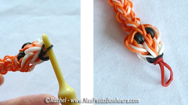 Serpent en lastiques rainbow loom tuto ecrit - Le polyester est il elastique ...