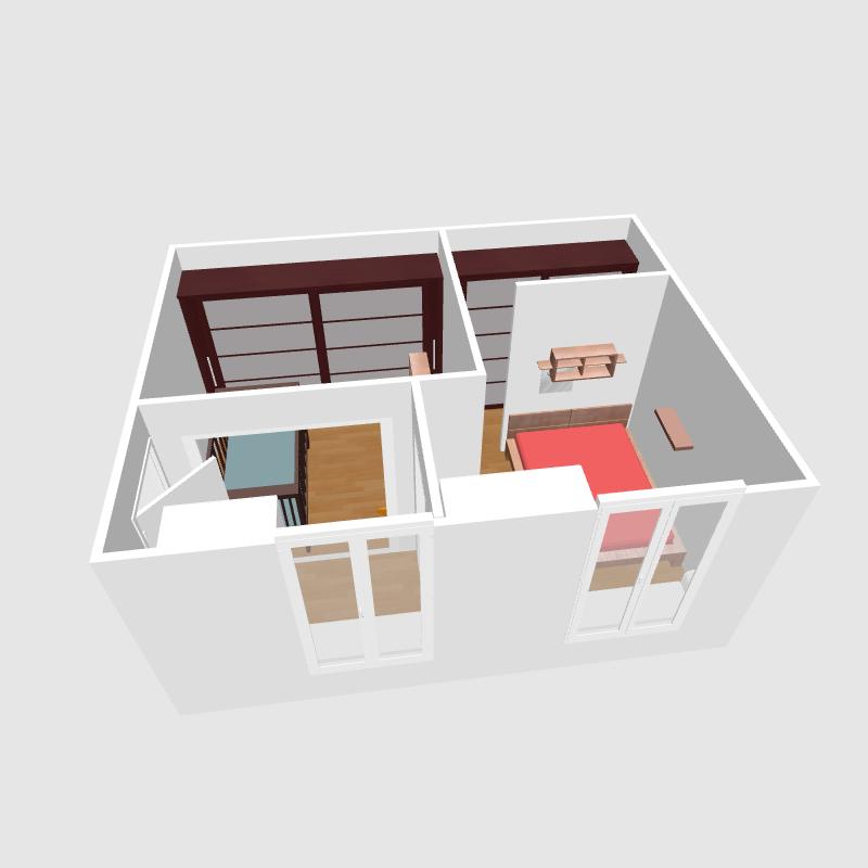 Chambre En Enfilade Solution : Réaménager chambres en enfilade