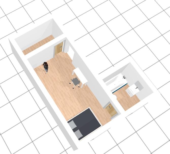 amenager un studio de 27 m2. Black Bedroom Furniture Sets. Home Design Ideas