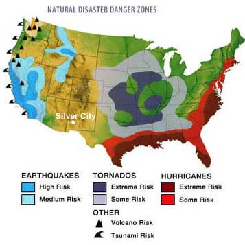 Mapdijpg - Us map potential natural disasters