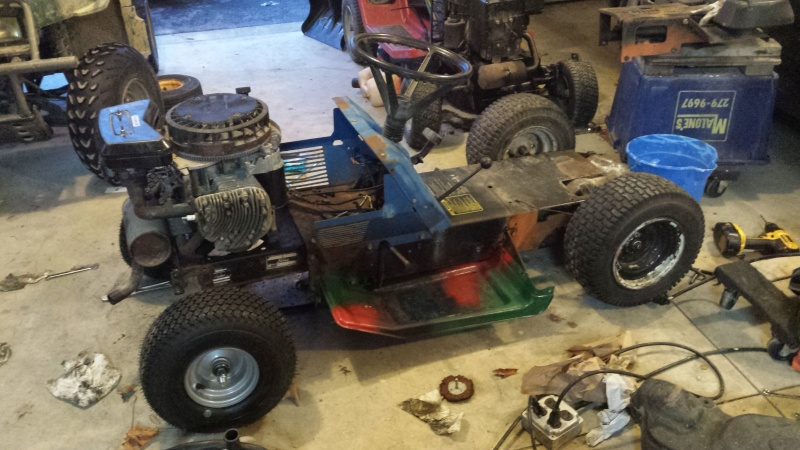 Racing Mower Axle : Vtwin ford race mower page