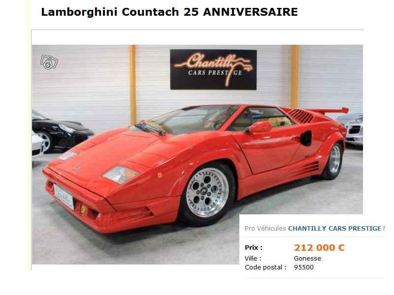 Replique countach page 27 for Chantilly cars prestige societe