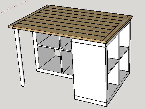 plan de travail pour ilot central. Black Bedroom Furniture Sets. Home Design Ideas